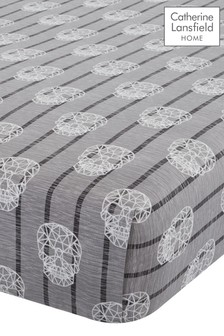 Skulls Fitted Sheet by Catherine Lansfield