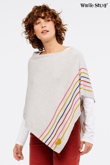 White Stuff Silver Heart & Stripe Poncho