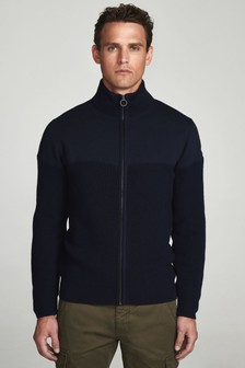 North Sails Navy Full Zip Jumper