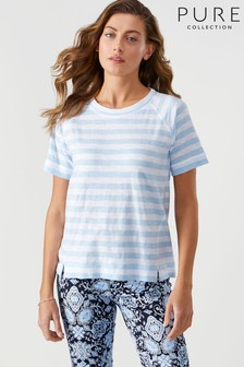 Pure Collection Blue Easy Cotton T-Shirt