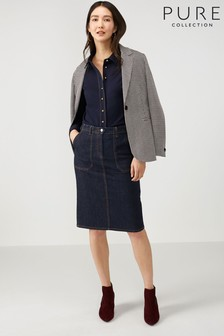 Pure Collection Blue Denim Skirt