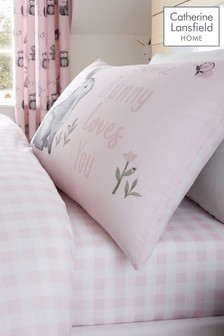 Woodland Friends Gingham Fitted Sheet by Catherine Lansfield