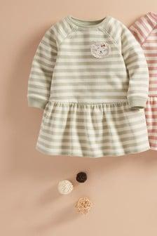 Stripe Character Sweat Dress (3mths-7yrs)