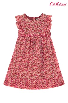 Cath Kidston® Red Kids Burnham Ditsy Frill Bib Dress