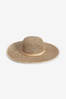 Open Weave Floppy Hat