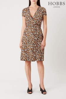 Hobbs Orange Delilah Wrap Dress