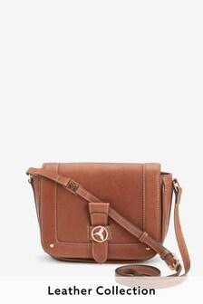 Leather Hummingbird Saddle Bag