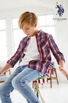 U.S. Polo Assn. Herringbone Check Long Sleeve Shirt