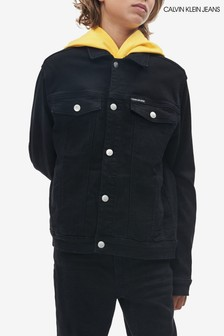 Calvin Klein Black Jeans Unisex Denim Trucker Jacket