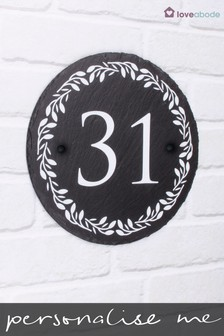 Personalised Lombard Rustic Slate House Sign by Loveabode