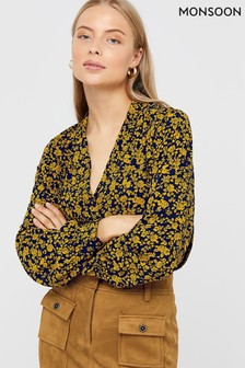 Monsoon Blue Daphne Print Ditsy Shirt