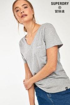 Superdry Black V-Neck Pocket T-Shirt