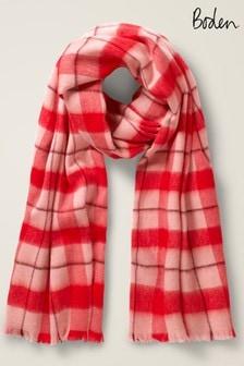 Boden粉色羊毛圍巾
