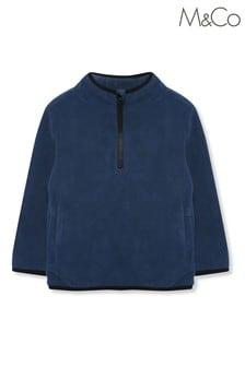 M&Co Blue Plain Fleece Top