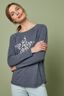 Washed Long Sleeve Top