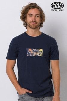 Animal Blue Serif Graphic T-Shirt