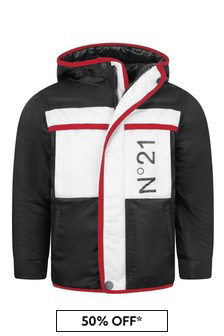 Boys Black/White Padded Jacket