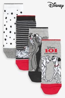 101 Dalmatians Trainer Socks Four Pack