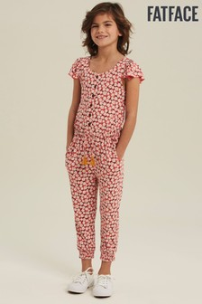 FatFace Red Daisy Print Jumpsuit