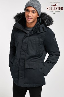 Hollister Black Parka Jacket
