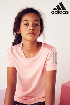 adidas Pink Own The Run T-Shirt