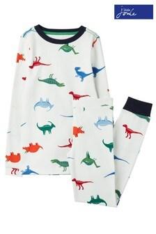 Joules White Kipwell Printed Pyjama Set