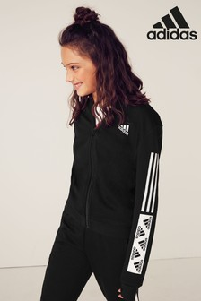 adidas Black Must Have Zip Through Hoody