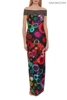 Gina Bacconi Black Manisha Maxi Dress