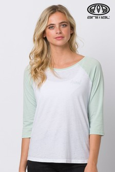 Animal Green Surfside Long Sleeve Raglan T-Shirt