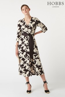 Hobbs Black Sandra Dress