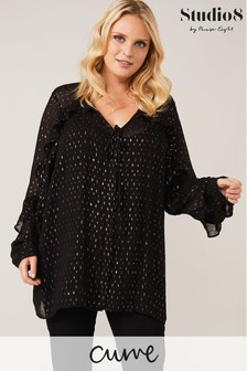 Studio 8 Black Multi Studio 8 Black Daniella Jacquard Top