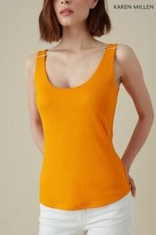 Karen Millen Orange Essential Metalwork Vest