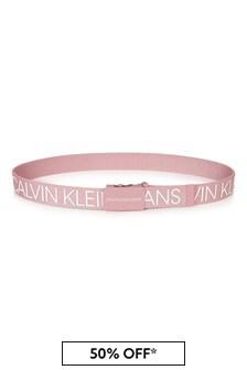 Calvin Klein Jeans Kids Pink Belt