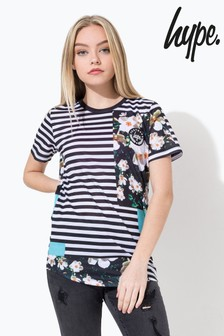 Hype. Striped Photo Kids Dished Sub T-Shirt