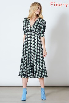 Finery London Claredon In Freehand Stripe Print Dress