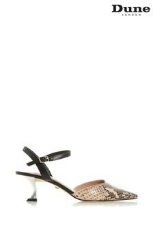 Dune London Doriaa Nude Print Leather Contrast Sandals