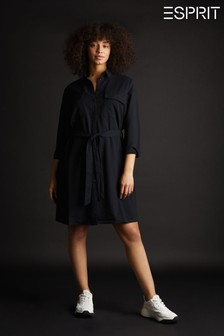 Esprit Woven Shirt Dress With Waistband