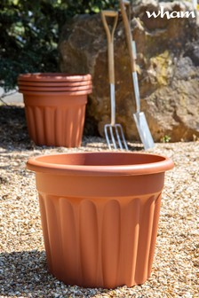 Set of 5 Vista 50cm Round Garden Planters by Wham