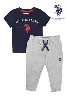 U.S. Polo Assn. Graphic T-Shirt & Joggers Set