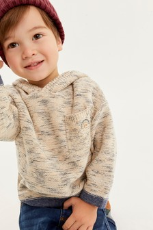 Knitted Oversized Stripe Hoodie (3mths-7yrs)