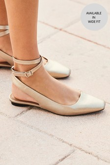 Ankle Strap Square Toe Shoes