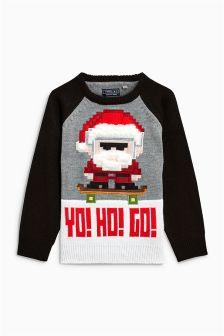 Christmas Yo Ho Go Jumper (3-16yrs)