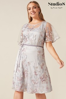 Studio 8 Blue Kimi Embroidered Dress