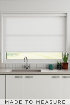 Pretty White Made To Measure Roller Blind