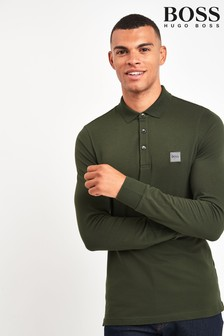 BOSS Green Passerby Long Sleeve Poloshirt