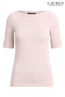 Lauren Ralph Lauren® Pink Stripe Judy Top