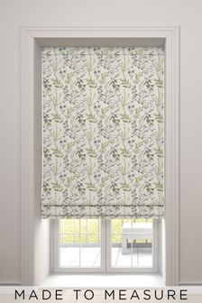 Ellis Fern Green Made To Measure Roman Blind
