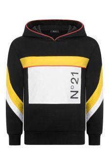 N°21 Boys Black Cotton Sweatshirt