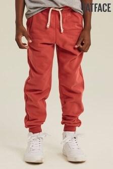 Pantalones de chándal con paneles y bajo ajustado en naranja de FatFace