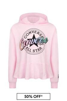Converse Girls Pink Cotton Hoody